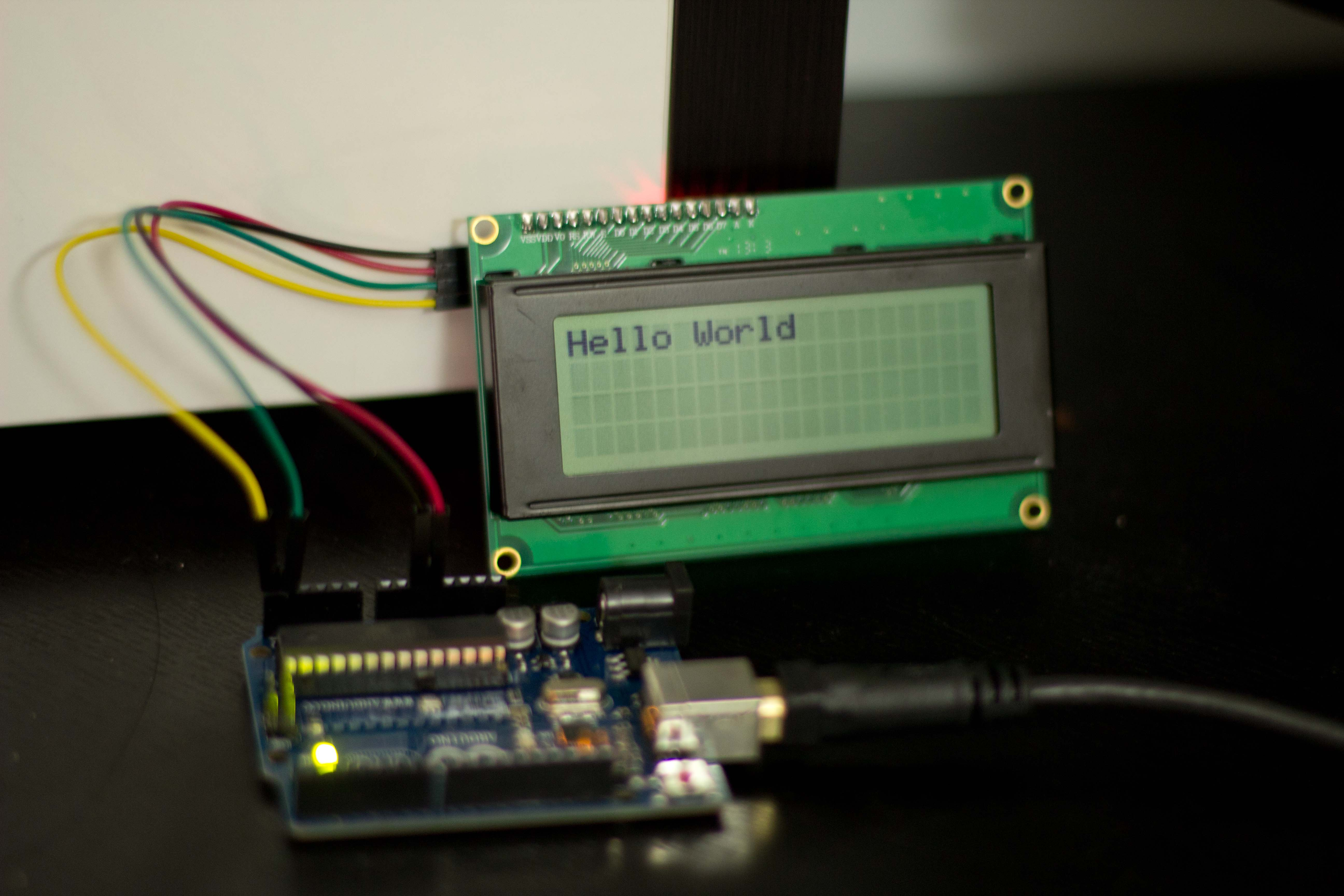 I2C 20×4 LCD module and Arduino at Samuel Jacob's Weblog